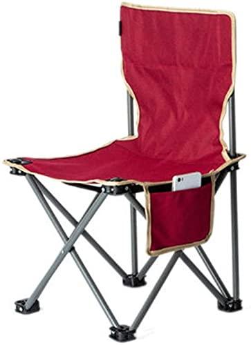 WXHHH Silla de Camping Plegable Silla Plegable portátil Ligero Camping Senderismo Viajes...