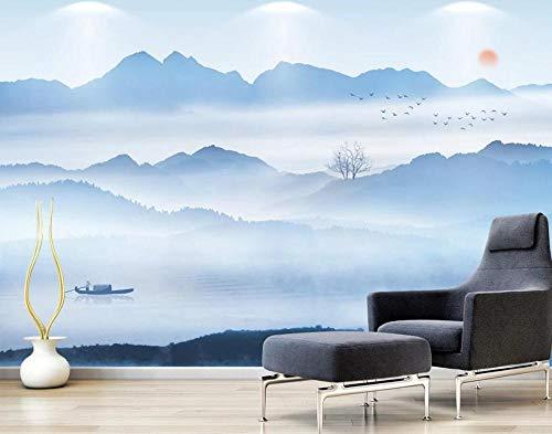 Papel Pintado Pared 3D Fotomurales Pintura De Paisaje De Tinta Zen De Estilo Chino Pared Papel 3D Foto Mural Pared