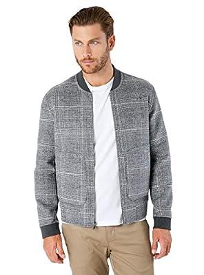 7 Diamonds Men's Glasgow Reversible Jacket (Medium, Grey)