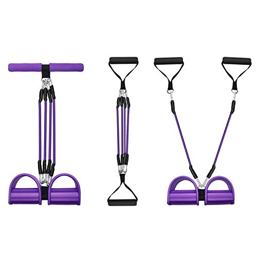 LILIANDA Exercise Bands for Working Out, TPE Fitness/Elastic/Resistance Bands for Women Butt and Legs with 4 Pull Rope Tube, 3 in 1 Exercise Equipment for Physical Therapy, Shape Body, Home Workouts