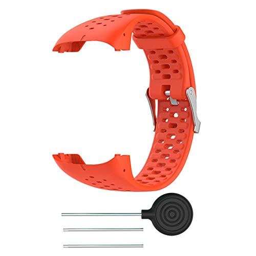 Silikon Armband kompatibel für Polar M400 M430, Silikonarmband Uhrenarmband Sport Ersatz Armband Sportarmband Ersatzband kompatibel für Polar M400 M430 20mm (Orange)