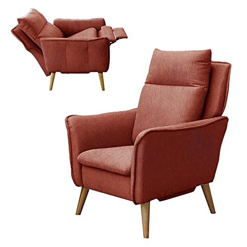 place to be. M314617 - Sillón de relax (tamaño pequeño, XXL, con función reclinable y función de reposo, madera de haya maciza), color rojo