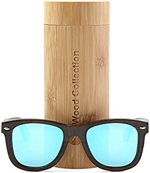 Anmao Wood Unisex Polarized Sunglasses