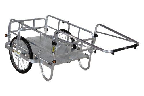 ハラックス コンパック アルミ製 折りたたみ式リヤカー HC-906 [エアータイヤ]