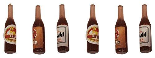 BERTONI Set von 6Miniatur Bier Flaschen, Holz, braun, 2,5x 30x 30cm