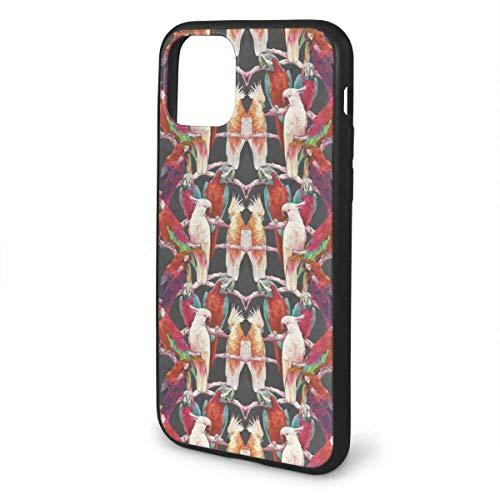 N/A iPhone 11 hoesje papegaaien vogels behang siliconen gel rubberen beschermhoes voor iPhone 11