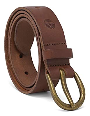Timberland Women's Casual Leather Belt, Brown (Oval), X-Large (35-39)