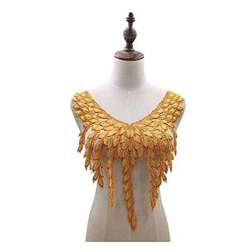 JPOYT-O Collar Falso De Dos Colores Amarillo-marrón Resistente Tamaño: 35 * 47...
