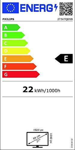 Philips 273V7QDSB – 27 Zoll FHD Monitor (1920×1080, 75 Hz, VGA, DVI, HDMI) schwarz - 14