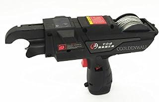 cgoldenwll js-37d automático Tying barras máquina herramienta eléctrica acero barras de flejado cartón Bind máquina incluye 6mm-24mm 10,8V batería