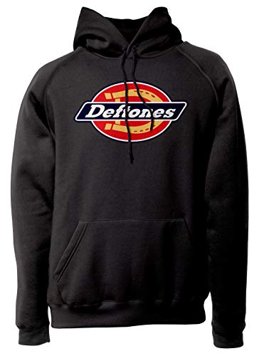 LaMAGLIERIA Unisex-Hoodie Deftones - Streetwear Logo - Hoodie Punk Rock, L, schwarz
