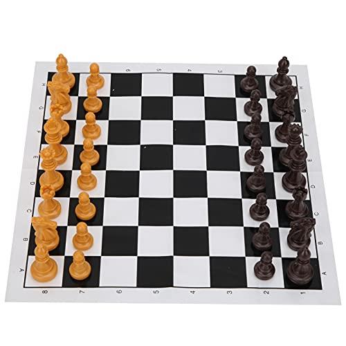 COHU Juego de ajedrez, fácil de Transportar, Peso Ligero, ajedrez Internacional, Mini ajedrez Internacional, Mano de Obra Fina