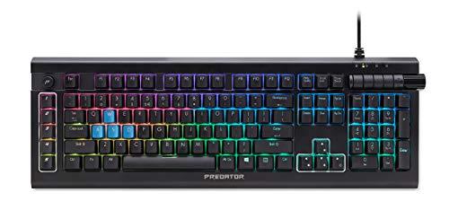 Predator Aethon 500 Gaming Keyboard (QWERTZ-Tastatur, UV-beschichtete ABS-Tastenklappen, 6 RGB-Beleuchtungsstufen, Anti-Ghosting-Unterstützung, 1,5m Kabellänge) schwarz