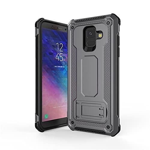 HJKKLL Fit For Samsung Galaxy A6, A8, 2018 Plus, Kickstand, A6, A8 Plus, 2018, A6 + A8 + A6plus Funda magnética a Prueba de Golpes(Color:Gray,Size:A82018)
