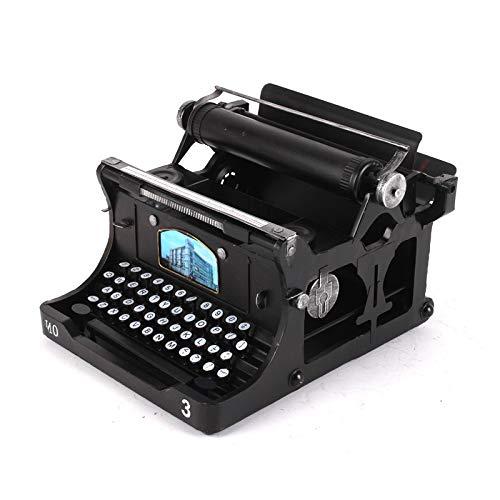 NOBRAND Versión Fina de fotografía de Modelo de máquina de Escribir de Hierro Forjado Hecha a Mano a la Antigua decoración Retro decoración de la Tienda del Bar