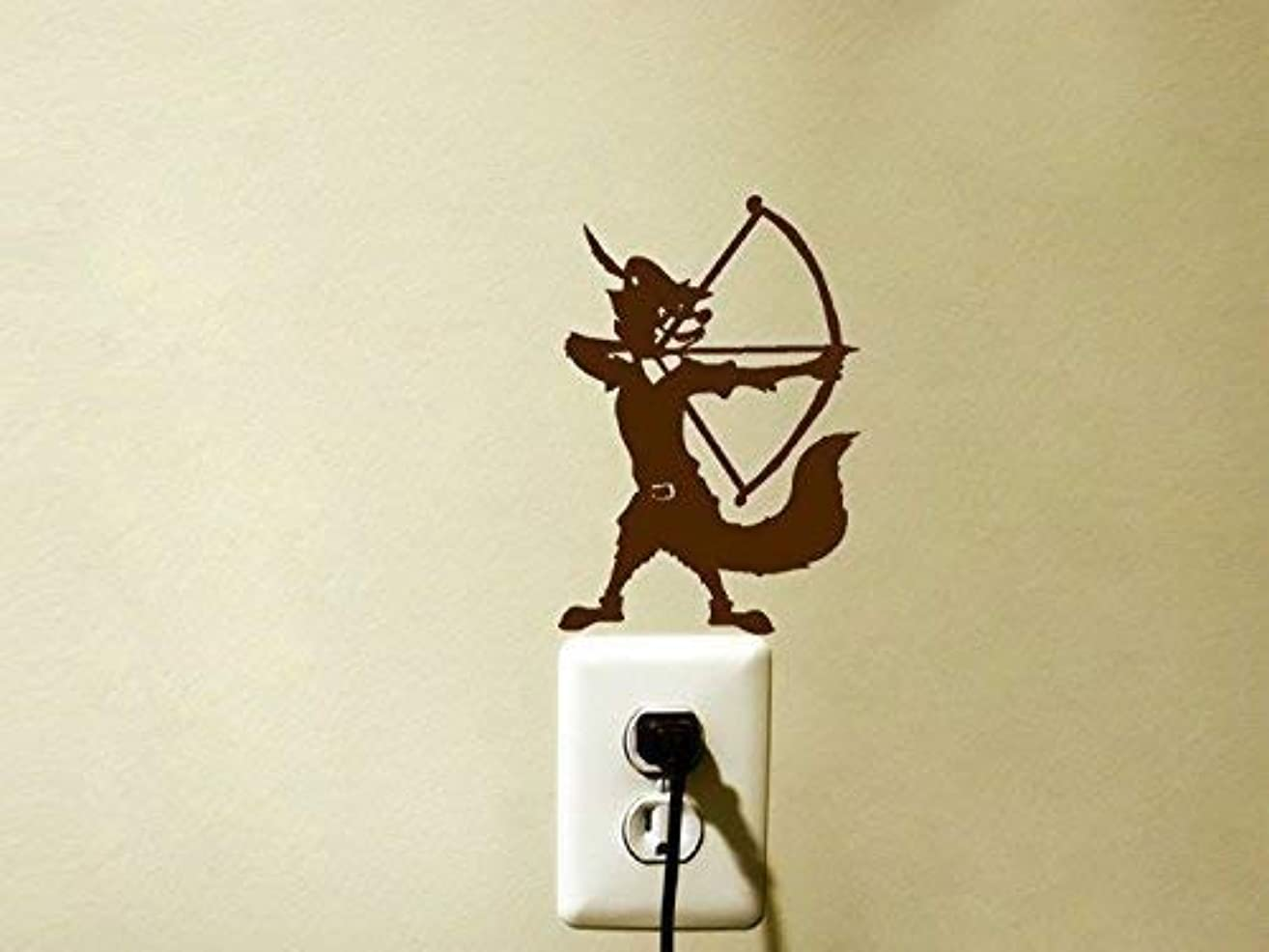 Fox Archery Vinyl Decal Sticker Bow and Arrow Kids Room Light Switch Decor