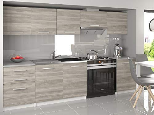 Tarraco Comercial Mobili da cucina completa Unica grigia 240 cm