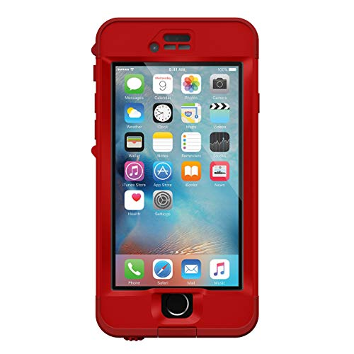 Lifeproof NÜÜD SERIES iPhone 6s Plus ONLY Waterproof Case - Retail Packaging - CAMPFIRE (FLAME RED/KICKFLIP RED)