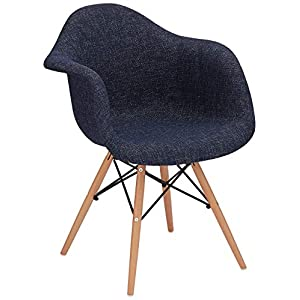 アイリスプラザ 椅子 ダイニングチェア イームズチェア リプロダクト 天然木脚 パッチワークデニム DN1002