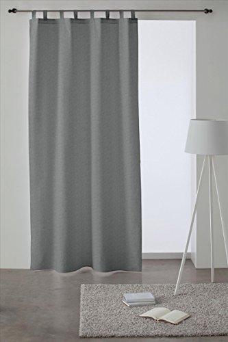 ForenTex - Cortina Estilo rústico, (Levante Gris), 140 x 260 cm, Semi-Opaca, 800 gr, Fabricada en loneta de máxima Resistencia al Sol