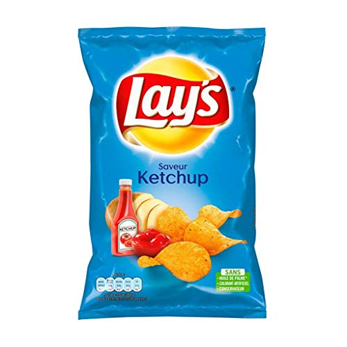 Lays Laya € ™ S Chips Ketchup Flavor 130G (Lot 10)