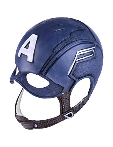 Cosfunmax Superhero mask Comics Classic Full Head Latex Mask Helmet Halloween Cosplay, Navy Blue, One Size