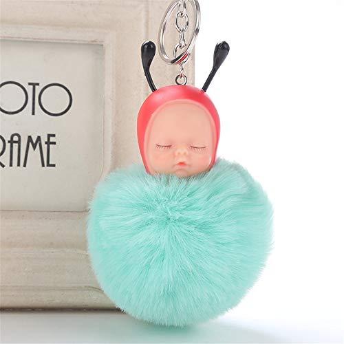 HINK Llaveros, Llavero Lindo del bebé de la Abeja Colgante Llavero de Las Mujeres Pompones Llaveros, Regalos de joyería de Las Mujeres Venta