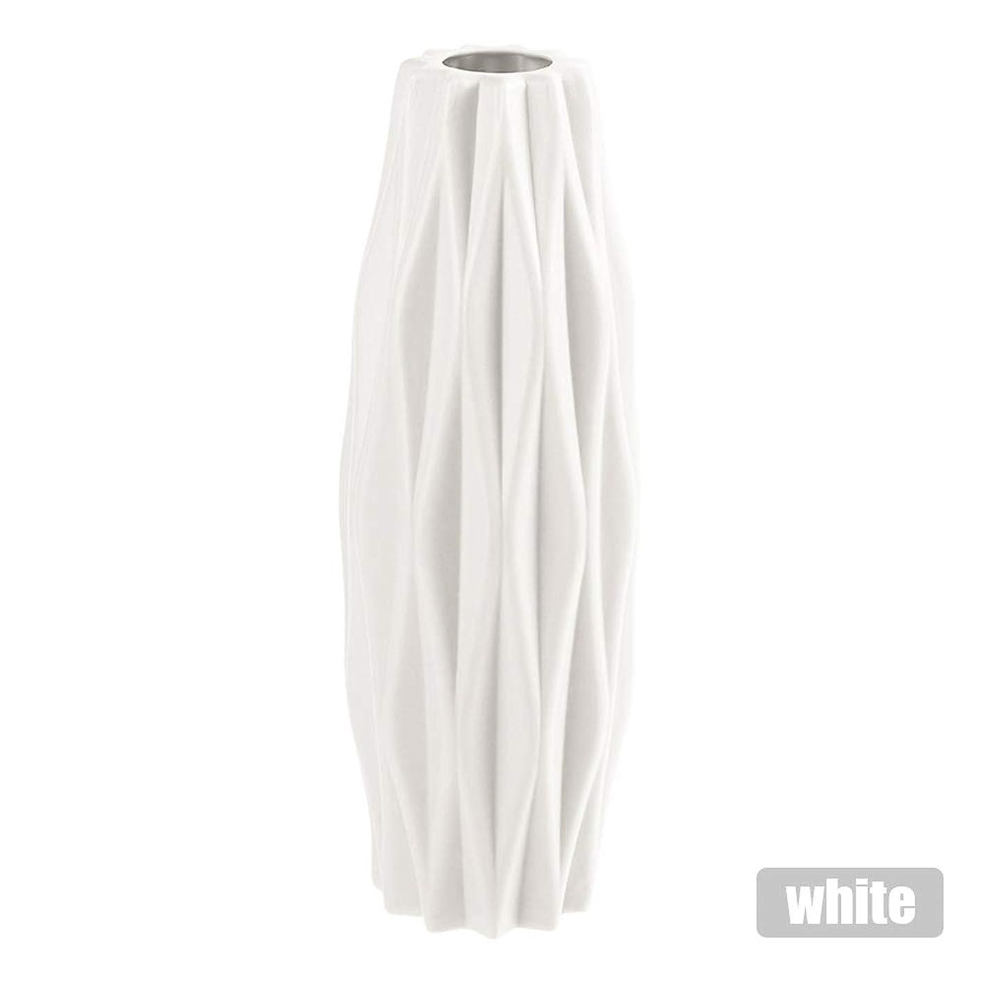 パキスタンレディ脱走花瓶、模造セラミック花瓶ノルディックスタイル花瓶アンチフォールPP花瓶フラワーポットドライフラワー装飾花瓶-ホワイト