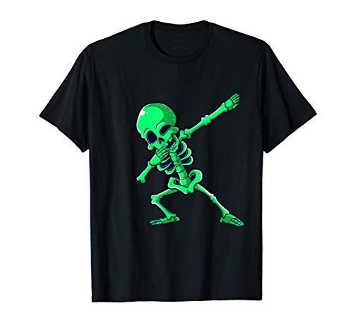Dabbing Esqueleto Halloween Baile Esqueletos Niños Niñas Camiseta