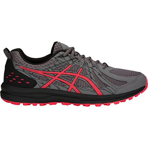 ASICS Men's Frequent Trail Running Shoes, Carbon/Red Alert, 10 X-Wide