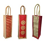A&A Bags Jute Eco-Friendly Water Bottle Wine Bottle Carry Bag (1.5 L Capacity)
