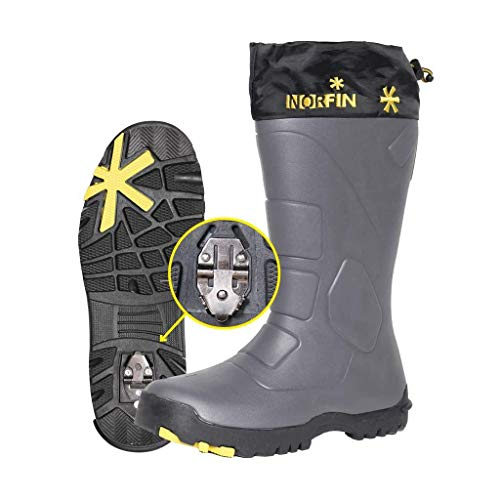 Norfin Klondaik - Winter Boots for Fishing, Hunting and Hiking - Anti Slip - Retractable ice Cleats for Added Safety and Protection - Made of EVA Material - Removable Insole (12)