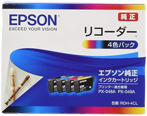 エプソン 純正 インクカートリッジ リコーダー RDH-4CL 4色パック