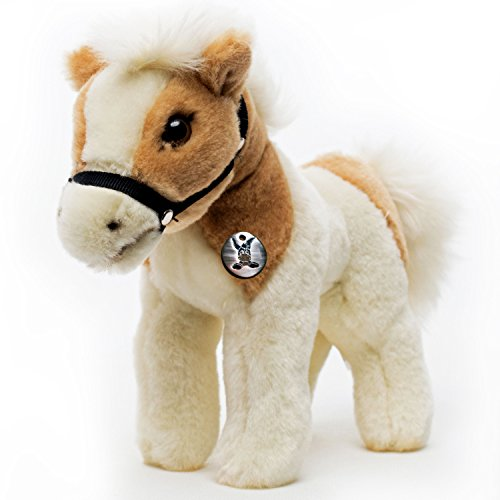 Kuscheltiere.biz Pony Zaina Pferd Tinker Schecke Isländer mit Halfter Plüschtier