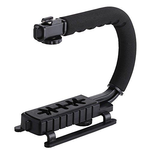 Universal U/C-Form Griff Stabilisator Pro für Kamera und Camcorder Blitzhalter Griff hanheld Aktion Stabilisator Grip für Canon Nikon Sony GoPro SJCAM Xiaomi Yi Kamera Camcorder Mini DV DSLR SLR