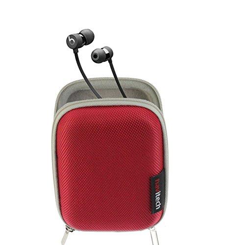 Navitech Hartschalen-Schutzhülle für Kopfhörer, kompatibel mit The Beats by Dr. Dre Beats X, Rot