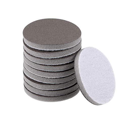 Gancho de esponja de lijado de 2 pulgadas de grano 600 y disco de lijado de bucle para madera/paneles de yeso/metal 10 piezas