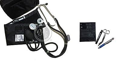 EMI NK-330 Sprague Rappaport Stethoscope and Aneroid Sphygmomanometer Manual Blood Pressure Set and Pocket Organizer Nurse Kit