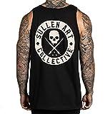 Sullen Men's Summer Tank Top Sleeveless Shirt Black 2XL