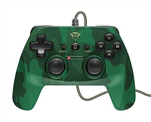 Trust GXT 540C Yula Kabelgebundenes Gamepad (Wireless Controller für PC, Laptop und PS3) grün