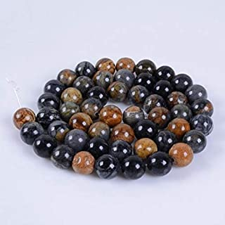 "Jewel Beads Natural Beautiful jewellery 8MM139 8mm Dark picasso jasper round ball loose gemstone beads 16""Code:- JBB-8922"