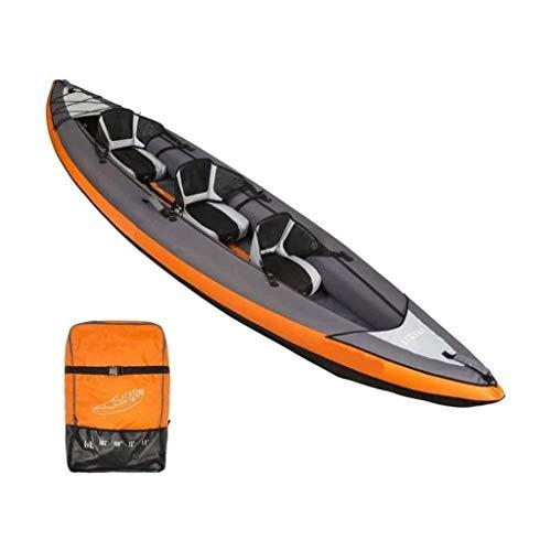 Lcxligang Singolo, Doppio, Triplo, 1, 2, 3 Persona Gonfiabile Kayak Set con Alluminio Remi...