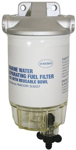 SeaSense Fuel Filter Kit with Clear Bowl And Aluminum Head by Seasense