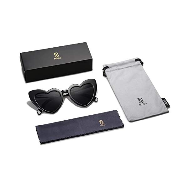 SOJOS Heart Shaped Sunglasses Clout Goggle Vintage Cat Eye Mod Style Retro Glasses Kurt Cobain SJ2062