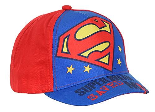 Gorra para bebé/niño Superman, color azul y rojo, de 9 meses a 3 años azul / rojo 50 cm (18-36 meses)