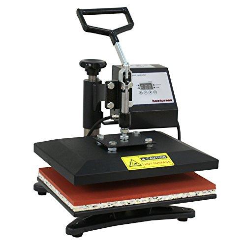 "F2C Pro 12"" x 10"" Heat Press Machine Swing-Away Digital Heat Transfer Sublimation Printing Machine for T-Shirt Black"