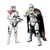 Siyushop Star Wars: Episodio 7 The Force Awakens - Il Primo Ordine Stormtrooper Action Figure - Star Wars: Episodio VII: The Force Awakens: Captain Phasma Action Figure - Confezione da 2