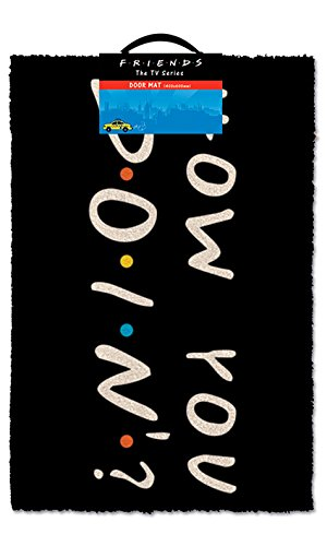 Pyramid International Friends How You Doin' Door Mat, Vinyl, Multi-Colour, 40 x 60 x 1.3 cm