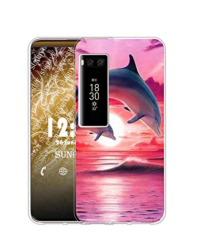 Sunrive Kompatibel mit Meizu PRO 7 Plus Hülle Silikon, Transparent Handyhülle Schutzhülle Etui Hülle (Q Delfin)+Gratis Universal Eingabestift MEHRWEG