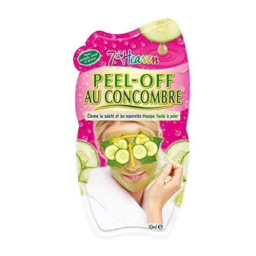 7th Heaven - 12 Masques Peel-Off Au Concombre - Masque Purifiant - Élimine la Saleté et les Impuretés - Facile à Peler - Cruelty Free 100% Vegan - Boîte de 12 Masques